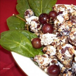 Cream Cheese Grapes With Nuts recipe