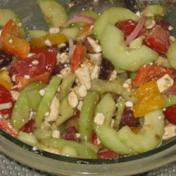 Greek Tomato Salad With Feta Cheese and Olives recipe