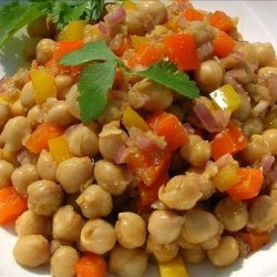 Chickpea Salad With Ginger recipe