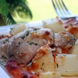 Zesty One Pan Chicken and Potato Bake recipe