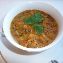 Mulligatawny Soup with Lentils recipe