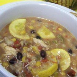 Southwestern Chicken & Barley Soup recipe