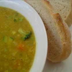 Curried Lentil and Vegetable Soup recipe