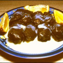 Stuffed Grape Leaves With Egg-Lemon Sauce by Sy recipe