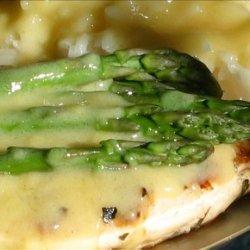 Asparagus Chicken With Hollandaise Sauce recipe