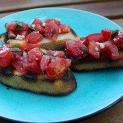 Grilled Tomato and Basil Bruschetta recipe