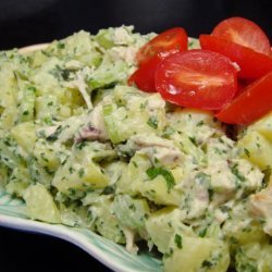 Potato Chicken Salad with a Basil Parsley Mayonnaise recipe