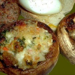 Mushrooms Stuffed With Feta Cheese And Garlic recipe
