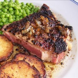 Pan-Broiled Steak With Whiskey Sauce recipe