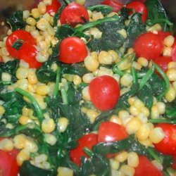 Spinach With Corn and Tomatoes recipe