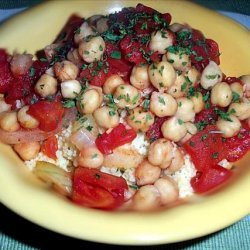 Stewed Tomatoes and Garbanzo Beans recipe