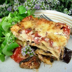 Roast Vegetable Lasagne With Spinach and Ricotta recipe