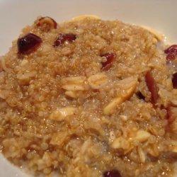 Raisin Spice Hot Cereal With Quinoa recipe