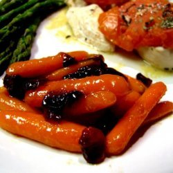 Apricot Orange Glazed Carrots With Cranberries recipe