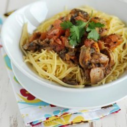 10 Minute Mushroom Spaghetti Sauce recipe