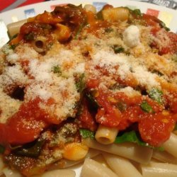 Penne With Spicy Red Sauce recipe