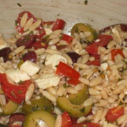 Orzo / Tomato Salad with Feta and Olives recipe