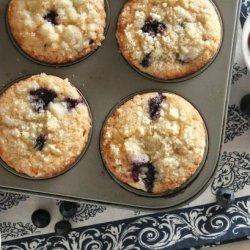 Blue Blueberry Muffins recipe