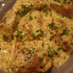 Grilled Chicken Breast with Creamy Red Pepper Sauce recipe