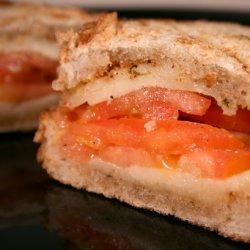 Grilled Provolone, Tomato and Oregano Sandwich recipe