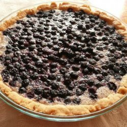 Blueberries and Cream Pie With No Roll Pie Crust recipe