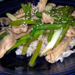 Ginger Chicken Asparagus Stir Fry recipe