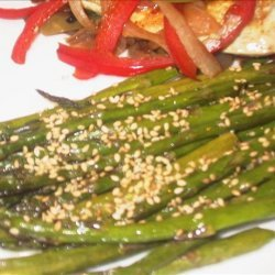 Mean Chef's Asparagus With Orange-Sesame Butter recipe