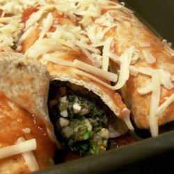 Spinach and Broccoli Enchiladas recipe