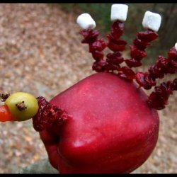 Cute Edible  Apple Turkey (Thanksgiving Treat) recipe