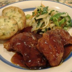 Braised and Barbecued Chicken Thighs recipe