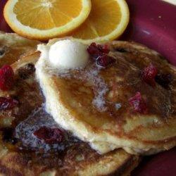 Cranberry Ricotta Pancakes recipe
