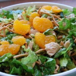 Delicious Asian Chicken Salad With Chow Mein Noodles recipe