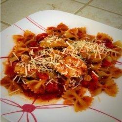 Chicken & Pasta With Marinara Sauce recipe