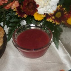 Alton Brown's Cranberry Dipping Sauce recipe