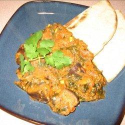 Eggplant (Aubergine) -Spinach Curry recipe