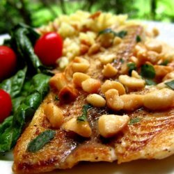 Fish With Macadamia Butter Sauce recipe