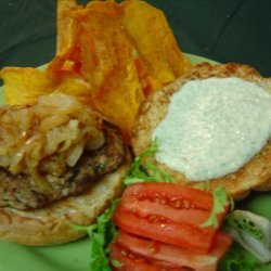 Mesa Burgers With Sage Aioli and Spicy Chips recipe