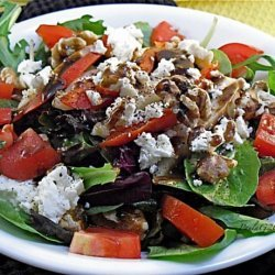 Pear & Walnut Salad With Balsamic Vinaigrette recipe