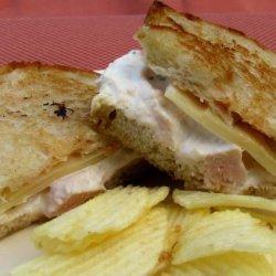 Paula Deen's Almond Chicken Salad Melt recipe
