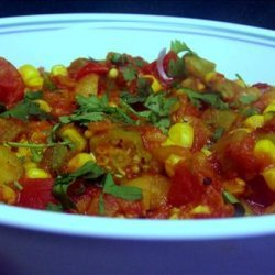 Curried Okra With Tomato recipe
