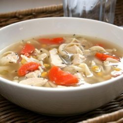 Laura's Tickle Your Tastebuds Chicken Noodle Soup recipe