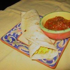 Potato Egg and Cheese Burrito recipe