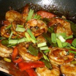 Honey Orange Stir Fry Shrimp recipe