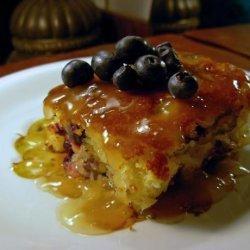 Lemon  Blueberry Cake & Hot Honey-butter Sauce recipe