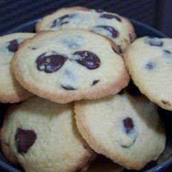 Dark Chocolate Chip and Vanilla Cookies recipe