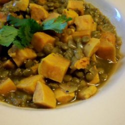 Lentils With Sweet Potatoes recipe