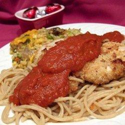 Low Calorie Parmesan Chicken With Tomato Cream Sauce recipe