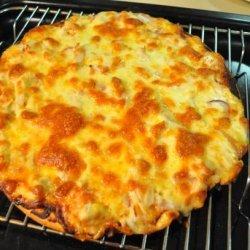 Three Cheese Bbq Chicken Pizza recipe