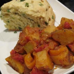 Friggione (A Side Dish of Potatoes & Tomatoes & Peppers) recipe