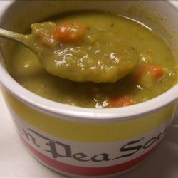 Leftover Holiday Ham & Split Pea Soup recipe